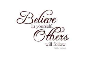 Да повярваш в себе си, но защо?